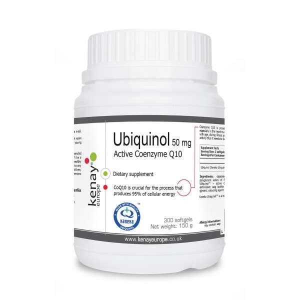 Ubiquinol - coenzyme Q10 50 mg, 300 capsules – dietary supplement