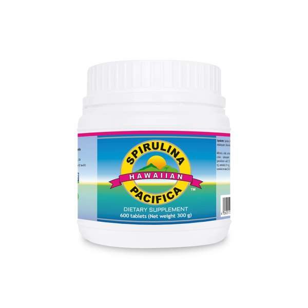 Spirulina Pacifica® 500mg, 600 tablets – dietary supplement