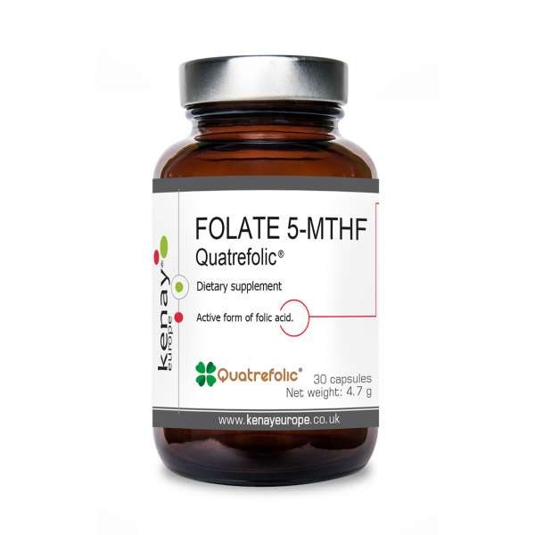 FOLATE 5-MTHF  Quatrefolic® 800 µg, 30 capsules - dietary  supplement