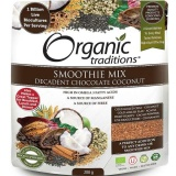 Organic Probiotic Smoothie Mix, chocolate, coconut (200 g)