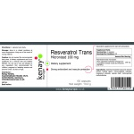 Micronized Trans-Resveratrol 100mg, 60 capsules - dietary supplement