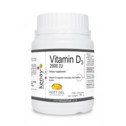 Vitamin D3 2000 IU, 300 softgels – dietary supplement